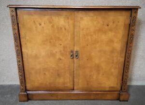 Burr Walnut Side Cabinet / Bookcase Iain James Furniture