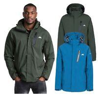 Trespass Edisan Mens Waterproof Jacket Windproof Casual Coat with Hood