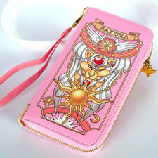 Cardcaptor Sakura Star Clow Cards Wand Zipper Wallet Purse Cosplay Handbag Bag