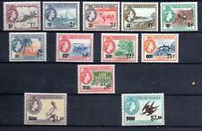 British Virgin Islands (6456) Queen Elizabeth 1962  Surcharged set Mounted mint