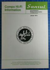 Prospekt Sansui Compo Hi-Fi Information 1960-70er Jahre Werbung Flyer  B23095