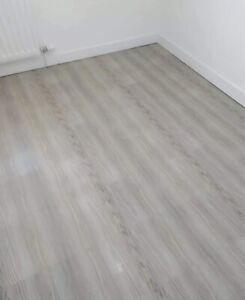 GREY WOOD Vinyl floor tiles self adhesive easy to fit flooring DIY Kitchen ETC