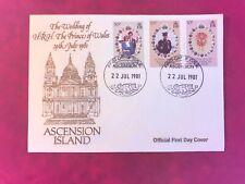 ASCENSION ISLAND 1981 FDC PRINCE CHARLES PRINCESS DIANA WEDDING ROYALTY