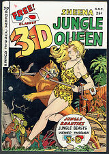 3-D SHEENA JUNGLE QUEEN   VG/4.0  -  Rare 3-D one off from 1953!