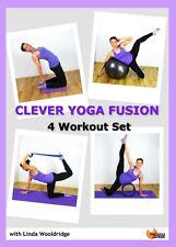 YOGA PILATES FUSION DVD - Barlates Body Blitz CLEVER YOGA FUSION 4 workouts!