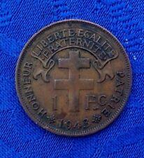 MONNAIE  1 FR DE 1943 MADAGASCAR