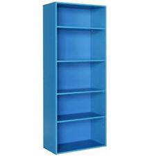 clair - 5.5ft Haut 5 étages enfants étagère rangement - Bleu zas0110260189