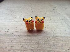 Stud Earrings Pokemon Pikachu Handmade Nickel Free Retro Cute