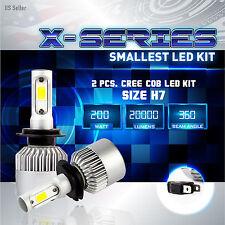200W 20000LM CREE COB LED Motorcycle Headlight Kit 6000K White Bulbs - H7 PAIR