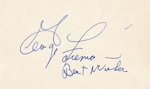 **George Foreman Signed Autographed Index Card JSA**