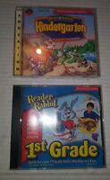 Lot of 2 Reader Rabbit PC Educational Computer Games Kindergarten 1st Grade