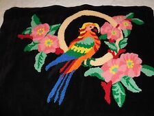 Beautiful Embroidered Parrot On Perch