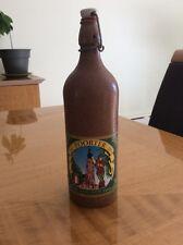 Old Hoogstraten Poorter Pint 9.4oz Ceramic Beer Bottle Sterkens Belgium Brewing