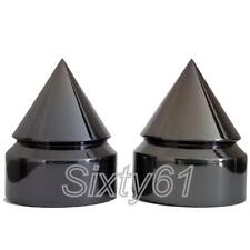 Spike Honda Rear Axle Caps Covers Black Chrome Motorcycle Billet Spiked