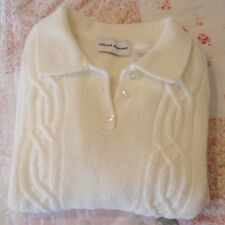 Alfred Dunner Size L , Ivory, Long Sleeve Soft & Warm Sweater