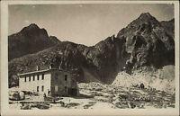 Vysoké Tatry Hohe Tatra Slowenien  AK ~1920/30 Berge Haus Echtfoto-AK m. Stempel