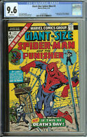 Giant-Size Spider-man # 4  CGC 9.6 WP  3rd app. of the punisher