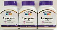 21st Century Lycopene 25 Mg Tablets 60-Count Bottle -3 Pack- 180 Total Tablets
