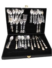 WM Rogers & Son Silverplate China Enchanted Rose  29 Pieces Flatware Set