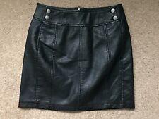 FREE PEOPLE mini leather like skirt size xxs UK 2