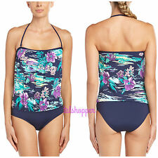 NWT $147 14 TOMMY BAHAMA Moorea Tropical Orchid Mare Pool Bandeau Swimsuit