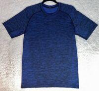 Lululemon Mens Heathered Blue Metal Vent Tech SS T Shirt Top Yoga Gym - Small S