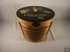 Hand Made PETERBORO Woven Cookie Basket w Liner, Orig Tags Made in USA