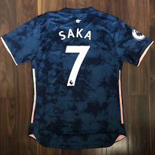 Bukayo Saka #7 Arsenal 2020-21 20/21 Adidas Third Blue Players Jersey (XL)