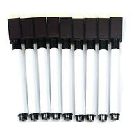8/2/1 Magnetic White Board Black Marker Pens Pen Dry Eraser Easy Wipe Whiteboard