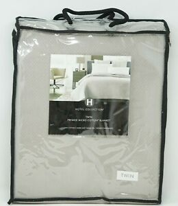 Hotel Collection Premier Honeycomb Weave MicroCotton Blanket - TWIN - Silver
