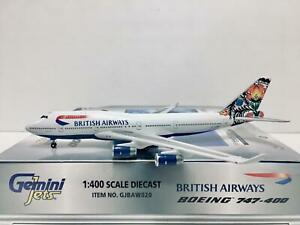 Gemini Jets 1:400 British Airways BOEING 747-400 G-BNLT GJBAW020 World Tail Pola