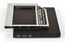 Opticaddy SATA-3 HDD/SSD Caddy+scatola DVD HP EliteBook 2530p 2540p