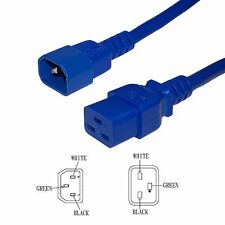 Lot-5, Nexhi® Power cord  C14/C19 14AWG SJT 15A/250V 04FT BLUE