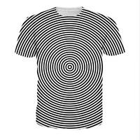 New Fashion Womens/Men Vortex pattern 3D Print Casual T-Shirt HJT248