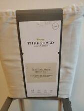 Threshold Performance (Full) Creamy Chai (Gray) Sheet Set 400 Thread Count New!