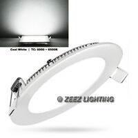 """12W 6"""" Round Cool White LED Recessed Ceiling Panel Down Lights Bulb Lamp Fixture"""