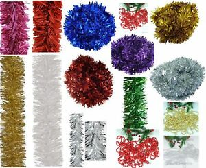 Luxury Chunky Thick Xmas Tinsel Garland Tree Home Christmas Party Decorations