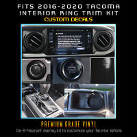 For 2016-2020 Toyota Tacoma Dashboard Interior Blackout Decal Kit - Glossy Matte