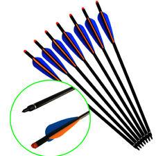 "12X 18"" Aluminum Crossbow Bolts Arrows 125 Gr Points Moon Nock Shooting Archery"