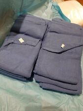 BLUE SURGICAL - OR - HUCK TOWELS - 100% COTTON - NEW! LOT of 10  Prewashed