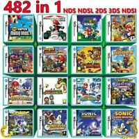 Super Games 482 IN 1 Game Cartridge Video Game for Nintendo NDS NDSL 3DS DS