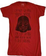"Fifth Sun Star Wars Darth Vader ""Lack of Faith"" Sarcasm Red T-shirt Small"