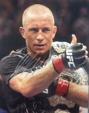 UFC CHAMPION GSP GEORGE ST PIERRE SIGNED 8X10 PHOTO W/PROOF W/COA JSA GUARANTEE