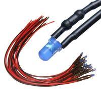 Litze LED für 9-12V S906-10 Stück LEDs 5mm orange diffus mit Kabel