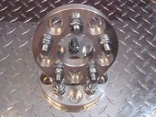5x110 to 5x112 Wheel Adapters 20mm Thick 12x1.5 Studs Spacer x2 US Made 65.1 bor