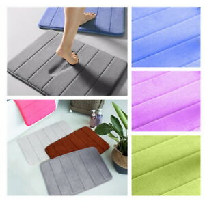 40x60Cm Anti Slip Bathroom Mats Soft Floor Rug Absorbent Memory Foam Bath Mat