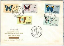 BUTTERFLIES - ETHIOPIA -  POSTAL HISTORY -  FDC COVER 1967