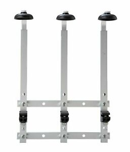 3 Bottle Wall Bracket Rack with 3x 25ml Beaumont Optic Spirit Measures 70cl /...