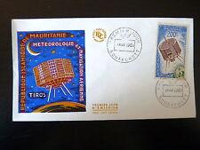 MAURITANIE AERIEN 30 PREMIER JOUR  FDC  METEOROLOGIE SATELLITE TIROS  200F  1963