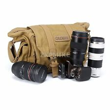 Canvas Camera Shoulder Case Bag For Nikon D3100 D3200 D5100 D5200 D610 D5300 DF